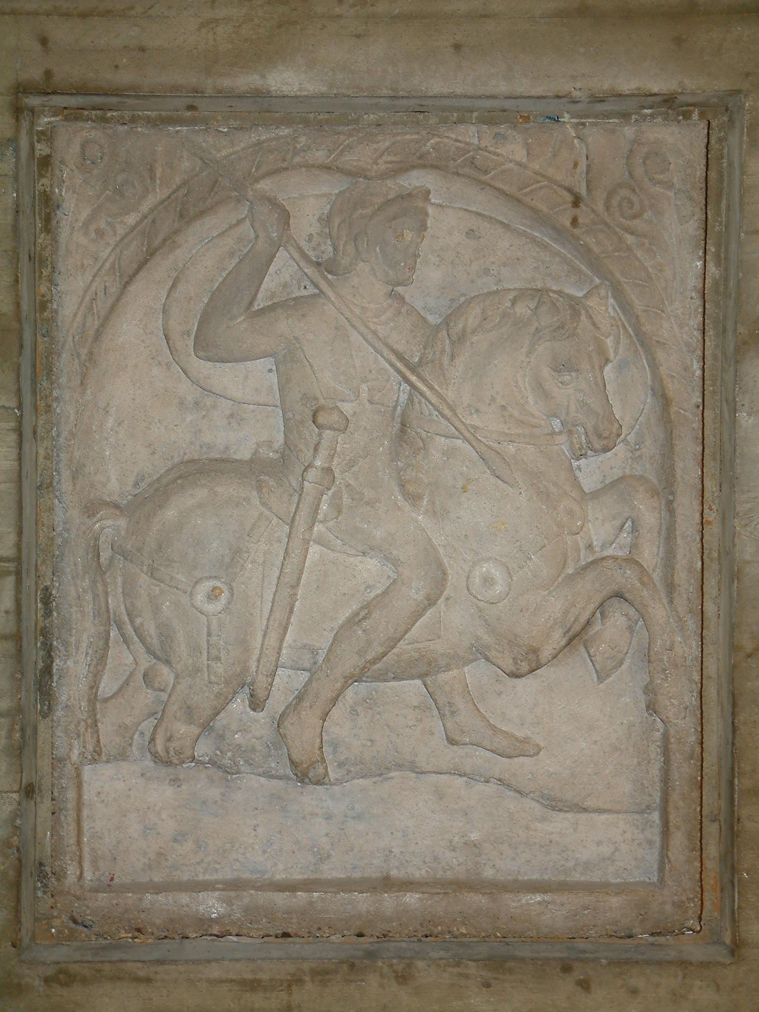 Grabmal eines Reiters