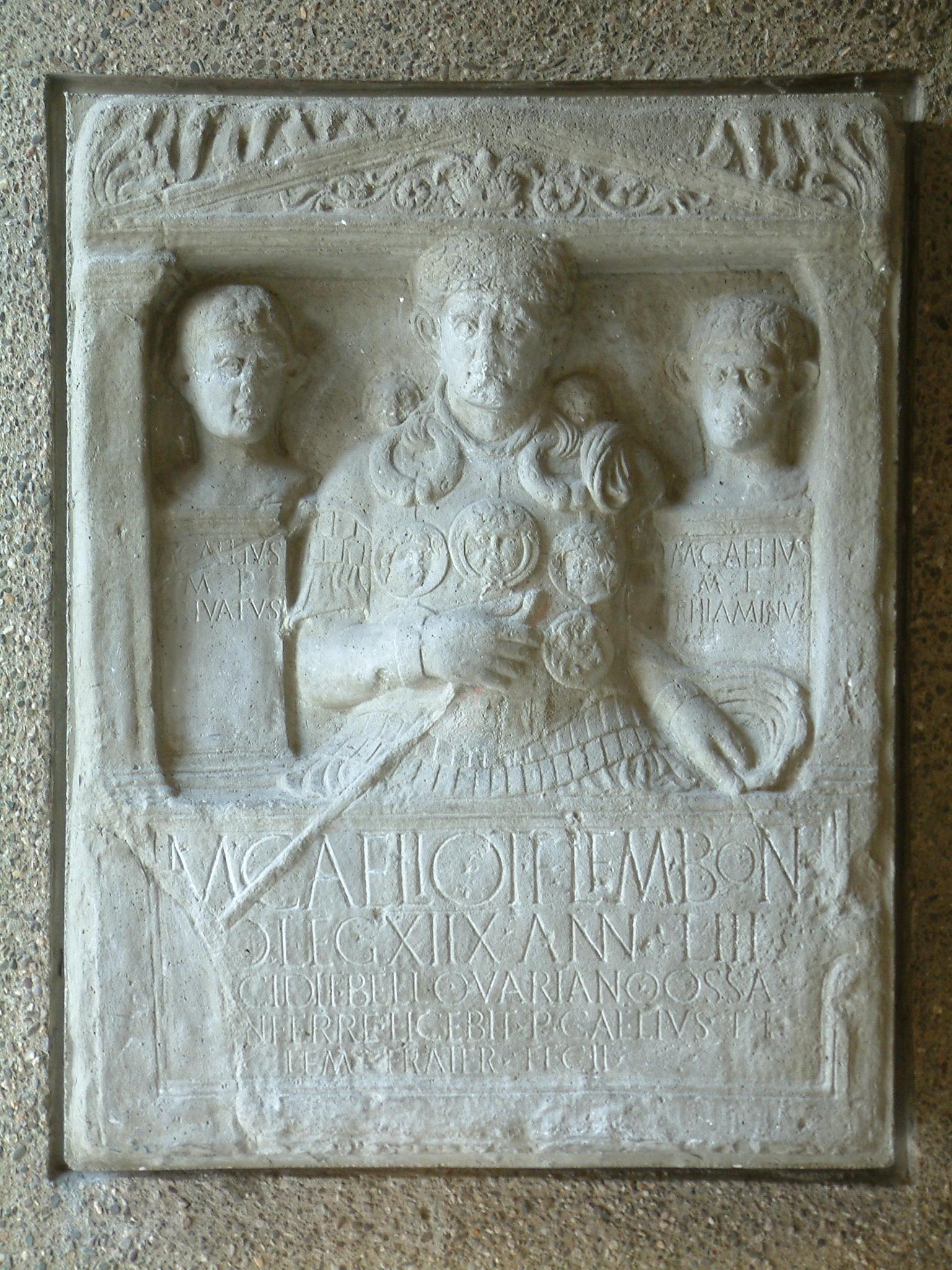 Grabstein des Marcus Caelius
